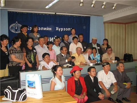The SCBWI Chapter, representing nearly all aspects of Mongolian Children's Book Publishing, met in Ulan Bator in connection with a visit from Lin Oliver and Stephen Mooser.